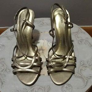 Fioni Gold High Heels - size 7